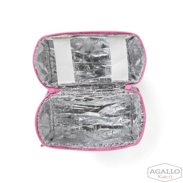 Lunchbox z zamkiem na środku miętowo-różowy w ananasy Penny Scallan 4941