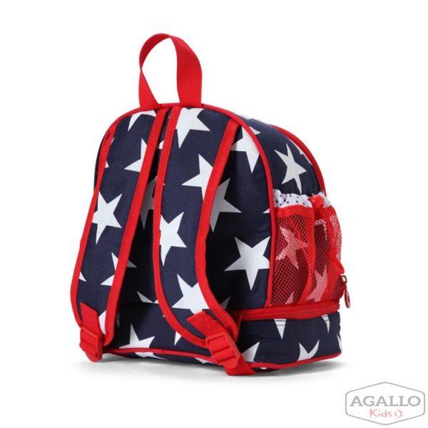 Plecak dla malucha z kieszenią na drugie śniadnie - granatowa w gwiazdy Penny Scallan 5015