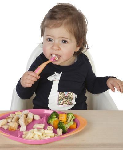 Pierwsze sztućce do nauki samodzielnego jedzenia - strawberry shake 6949