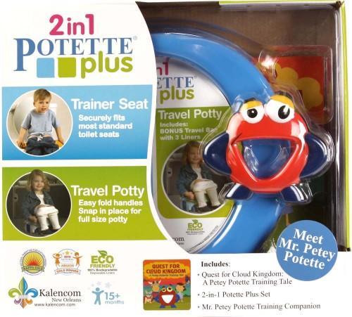 Zestaw Potette Plus 2w1 - książeczka + zabawka, niebieski 7002