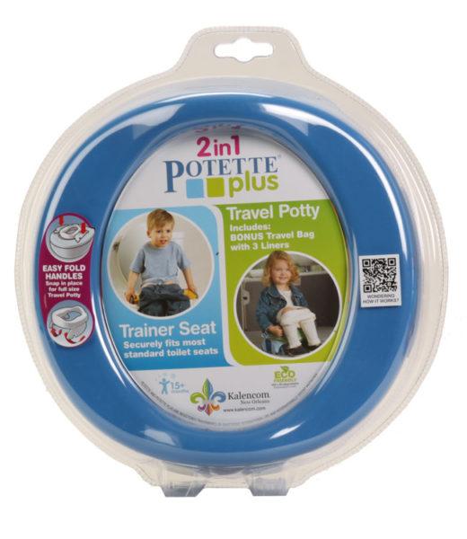 Zestaw Potette Plus 2w1 - książeczka + zabawka, niebieski 7006