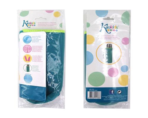 Etui na termos lub butelkę, neoprenowe niebieskie - KioKids 7175