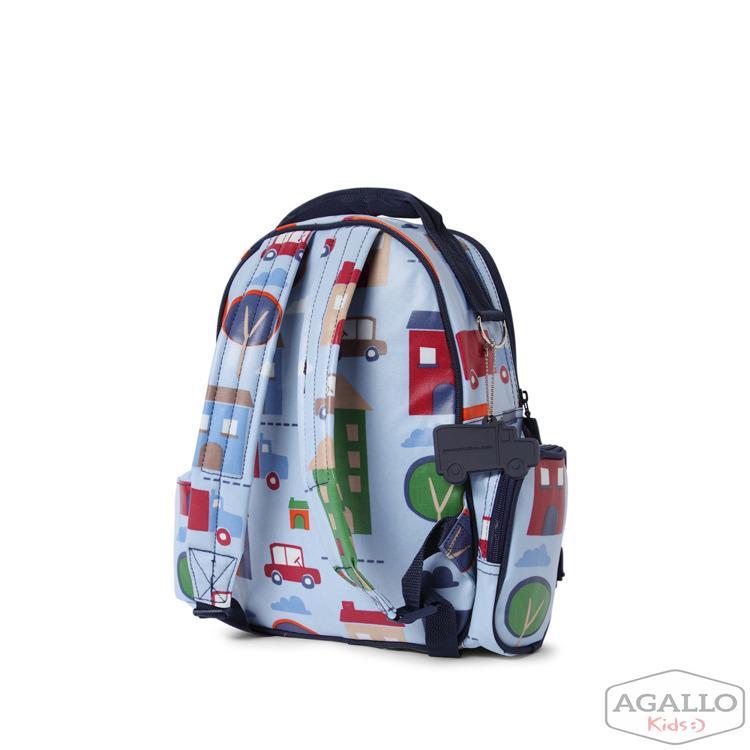 35ba98ce8777b Mały plecak z kieszeniami niebieski w autka Penny Scallan 4845