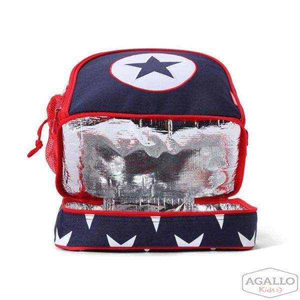 Plecak dla malucha z kieszenią na drugie śniadnie - granatowa w gwiazdy Penny Scallan 5016