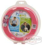 Potette Plus 2w1 nocnik turystyczny i nakładka na WC różowy 5298