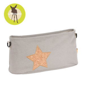 Lassig Casual Label Organizer do Wózka Cork Star light grey 11390