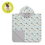 Lassig Ręcznik Poncho Paper Boat 120x60 cm UV 50+ 11700