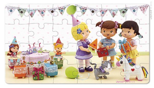 Puzzle 2w1 Julia świętuje urodziny, Janod 8513