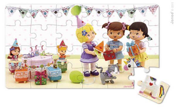 Puzzle 2w1 Julia świętuje urodziny, Janod 8515