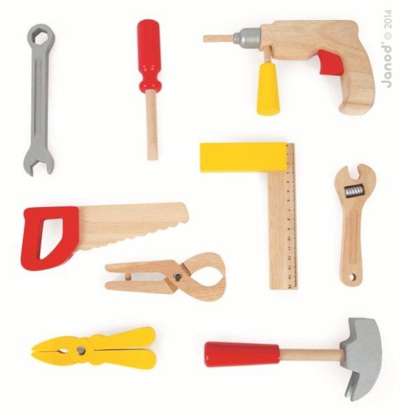 Walizeczka z narzędziami Bricolo, Janod 8276