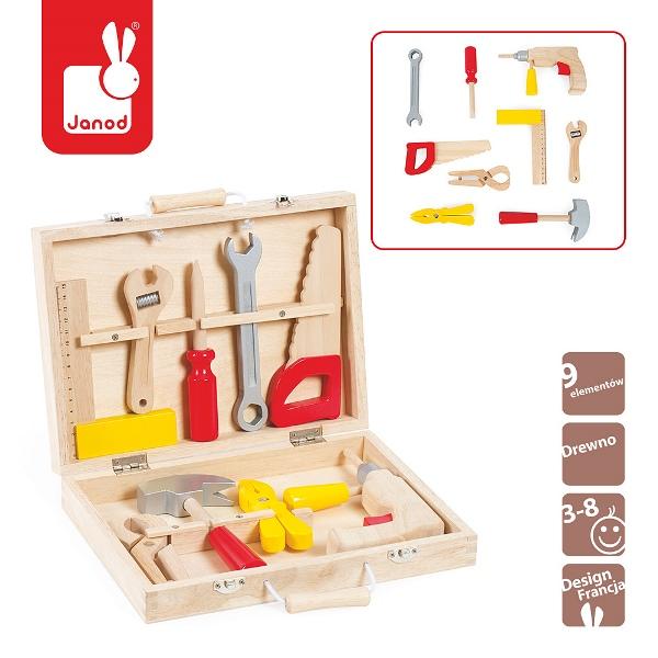 Walizeczka z narzędziami Bricolo, Janod 8277