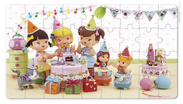 Puzzle 2w1 Julia świętuje urodziny, Janod 8512